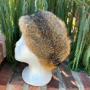 Fluffy Prairie Fox Fur Hat From Germany Cute4 Fall